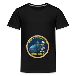 Command Badge SSN-1983 - Teenage Premium T-Shirt