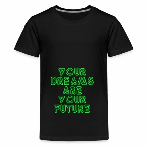 Future Clothing Slogan - Green Text - Teenage Premium T-Shirt