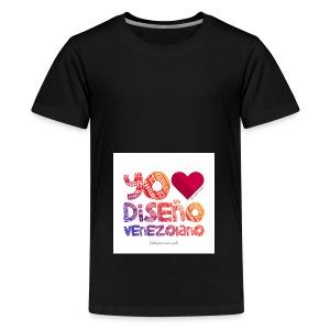 amoeldisenovenezolanoV3 - Camiseta premium adolescente