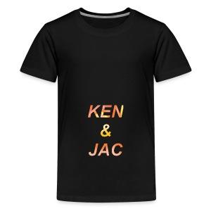 Ken & Jac Logo - Premium T-skjorte for tenåringer
