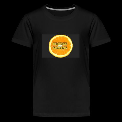Orange_Logo_Black - Teenage Premium T-Shirt