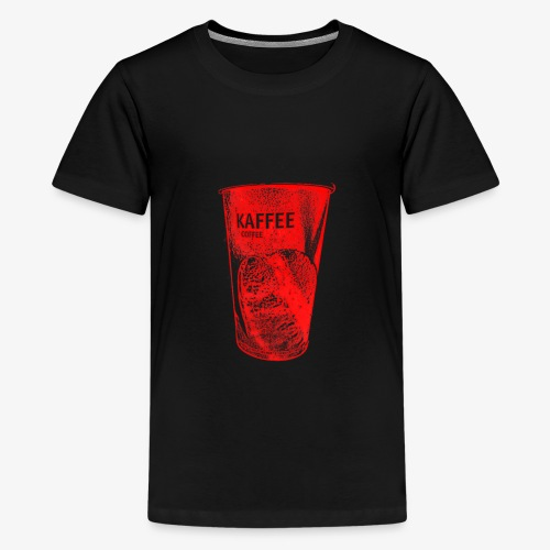 Café to Go Becher in rot - Teenager Premium T-Shirt