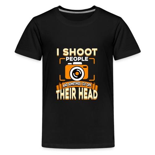Fotografiere Leute Kopf abschneiden - Teenager Premium T-Shirt