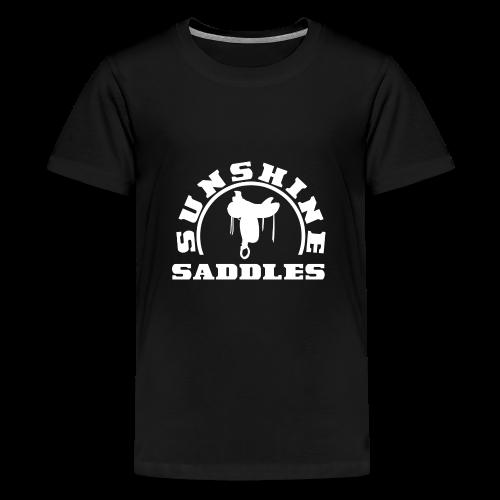 LogoSunshineSaddlesWeissTransparent - Teenager Premium T-Shirt