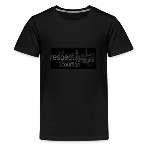réspecte , loyoté , force , honneur - T-shirt Premium Ado