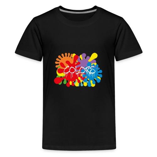 COLORS TACHES - T-shirt Premium Ado