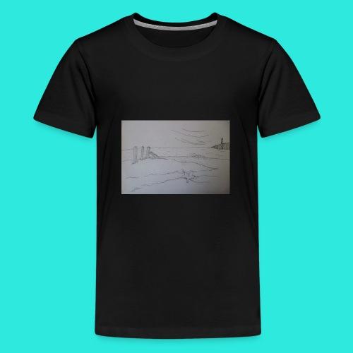 Zeezicht met vuurtoren - Teenager Premium T-shirt