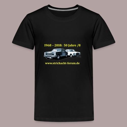 50jahre /8 strichacht-forum.de in gelb - Teenager Premium T-Shirt