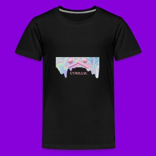 CYRILLIC NEON GLUE - Teenage Premium T-Shirt