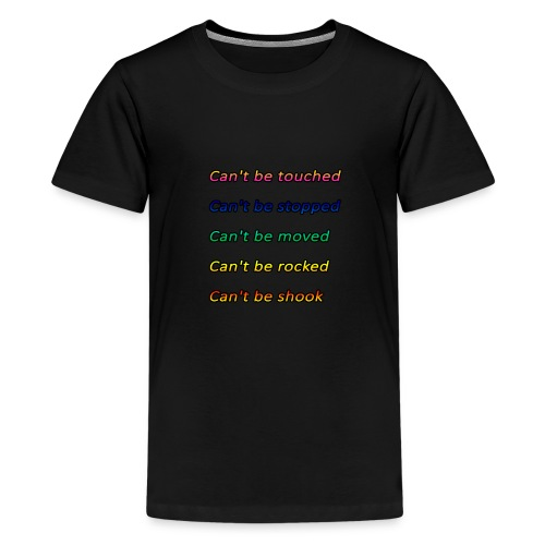 Cant be touched Roy Jones - Teenager Premium T-Shirt