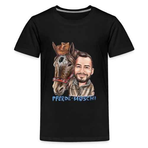 Hoschi-Karikatur forne - Teenager Premium T-Shirt