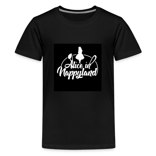 Alice in Nappyland TypographyWhite 1080 - Teenage Premium T-Shirt