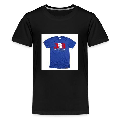ClassicBBBroyalredwhite 1024x1024 - Teenager Premium T-shirt