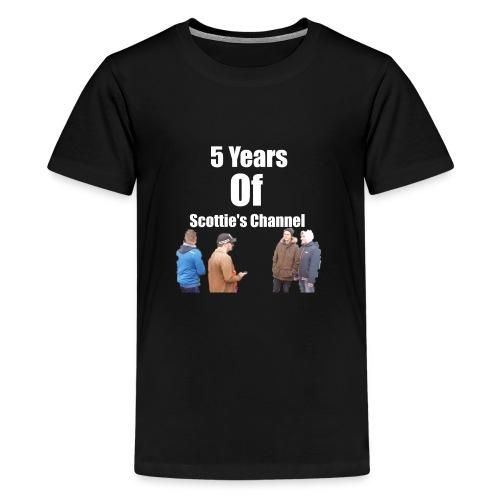 5 Years Of Scottie's Channel - Teenage Premium T-Shirt