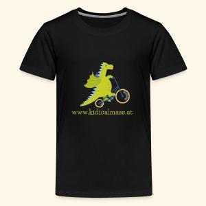 Musikdrache für dunklen Hintergrund - Teenager Premium T-Shirt