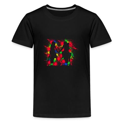 Motorradfahrer Paar - Teenager Premium T-Shirt