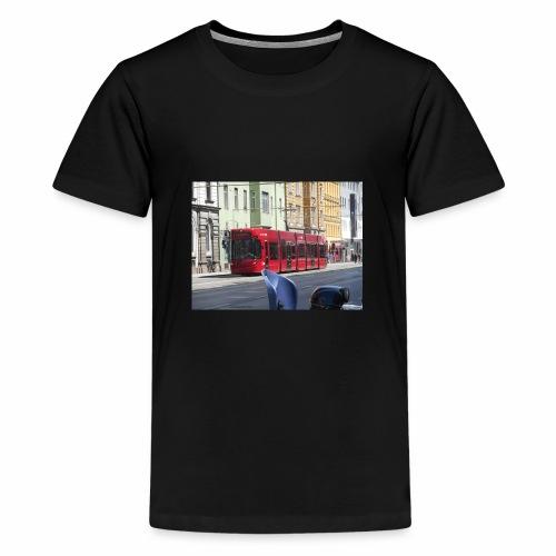 Een tram in Innsbruck - Teenager Premium T-shirt