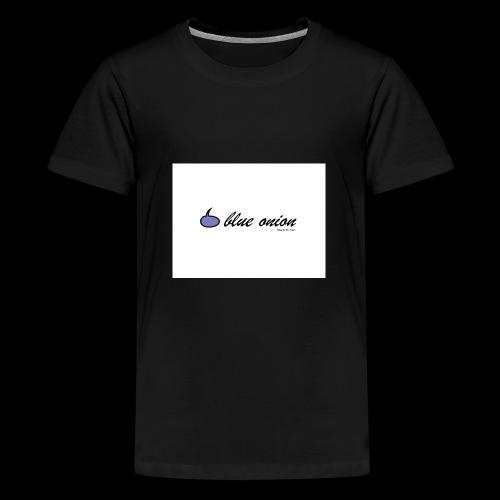 blue onion 4 - Teenager Premium T-Shirt