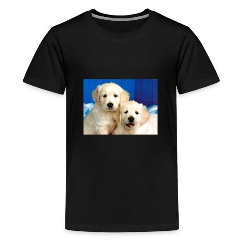 Golden labs pups - Teenage Premium T-Shirt