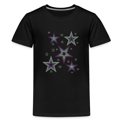 Disco Stars - Party und Open Air Festival Design - Teenager Premium T-Shirt