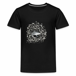 Shark and school of fish - Teenage Premium T-Shirt