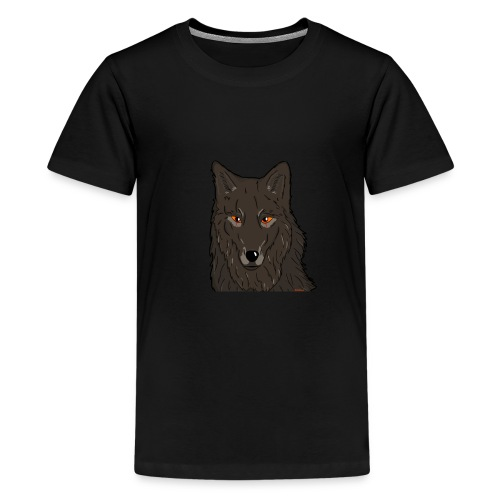 HikingMantis Wolf png - Teenager premium T-shirt