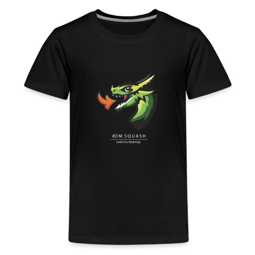 Draken med vit text - Premium-T-shirt tonåring