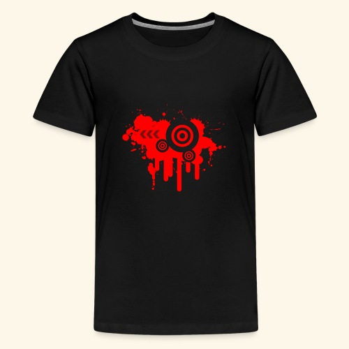 Grunge Vector Red! - Teenage Premium T-Shirt