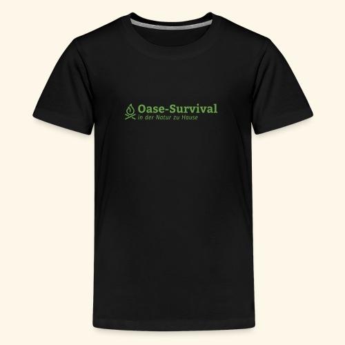Oase-Survival Logo grün - Teenager Premium T-Shirt