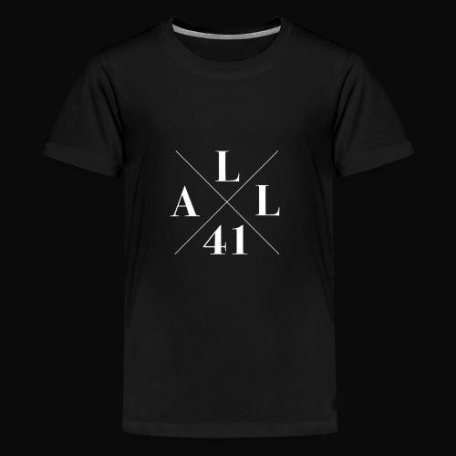 ALLx41 white edition - Teinien premium t-paita