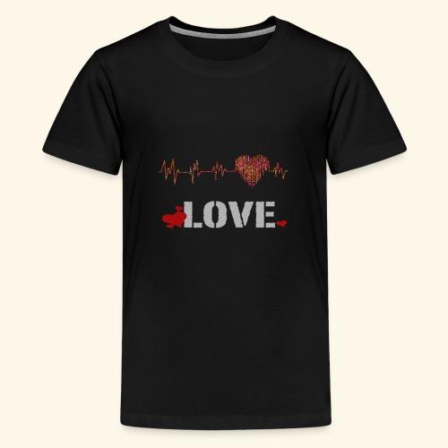 love herzfrequenz - Teenager Premium T-Shirt