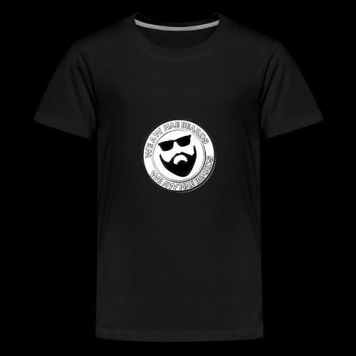 CIRCLE STAMP LOGO - Teenage Premium T-Shirt