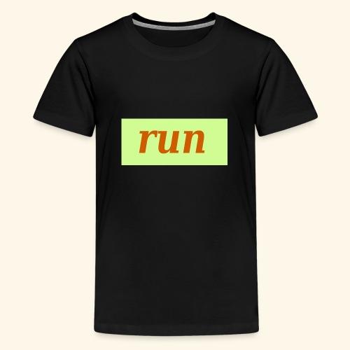 run - Teenager Premium T-Shirt