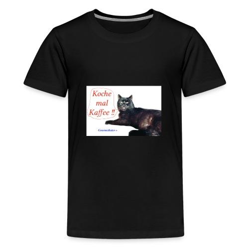 Gourmetkater Kaffee - Teenager Premium T-Shirt