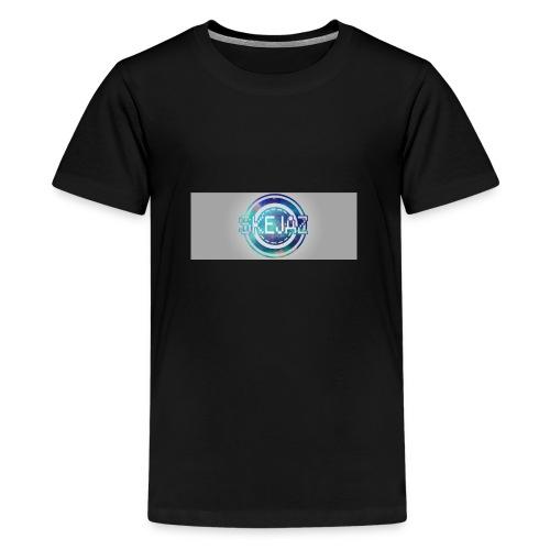 LOGO WITH BACKGROUND - Teenage Premium T-Shirt