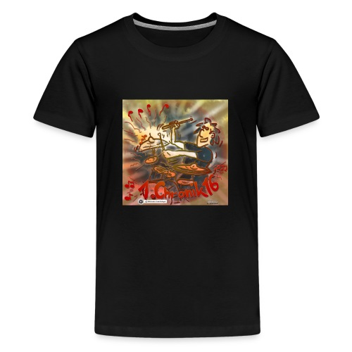 Design Drums 1. Chronik 16 - Teenager Premium T-Shirt