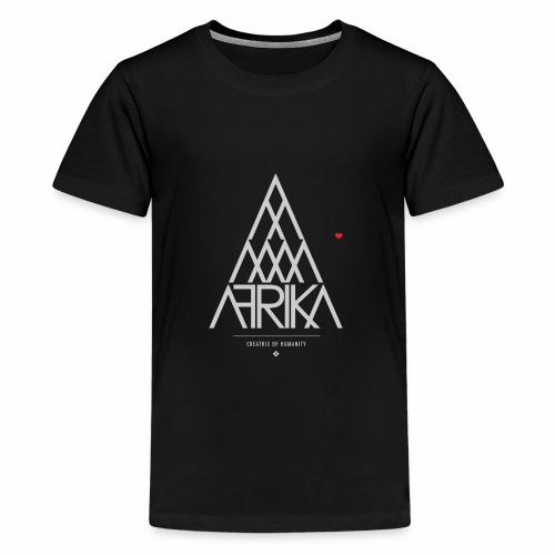 AFRIKA Pyramid Heart - Teenage Premium T-Shirt