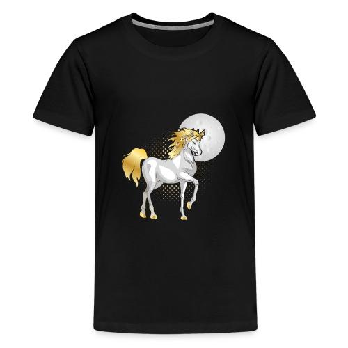 moonlight the unicorn - Teenage Premium T-Shirt