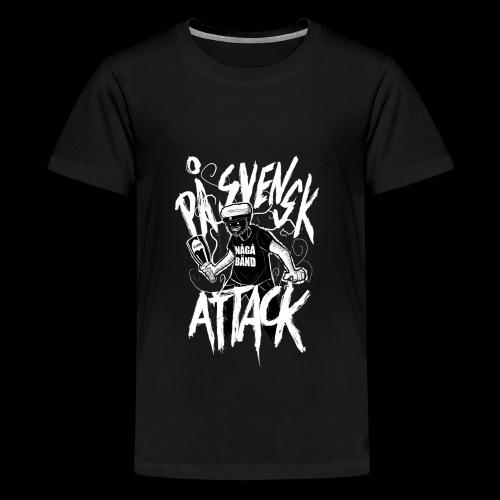 På Svenska Tack - Teenage Premium T-Shirt