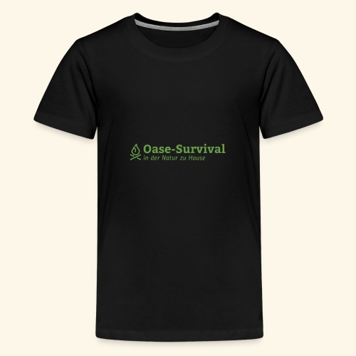 Oase-Survival Logo grün - Teenager Premium T-Shirt