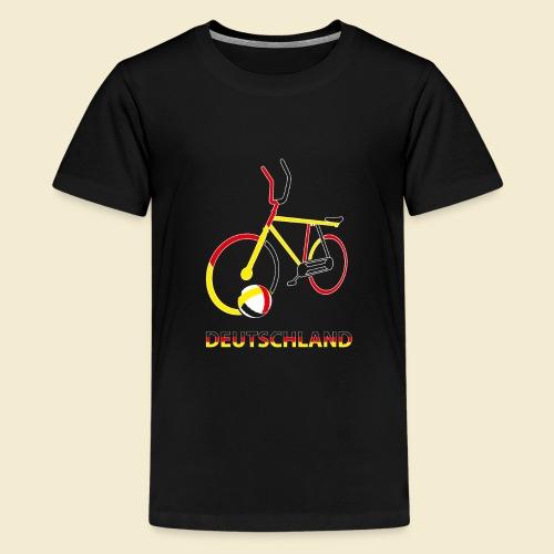 Radball | Deutschland Rad - Teenager Premium T-Shirt