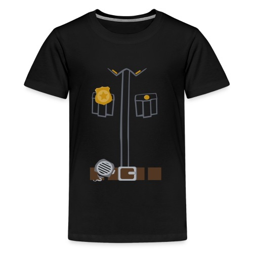 Police Tee Black edition - Teenage Premium T-Shirt