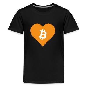 Bitcoin Heart - Teenager Premium T-shirt