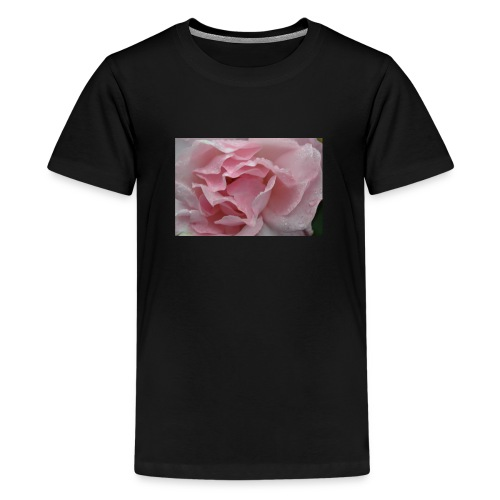 Water Droplet Rose - Teenage Premium T-Shirt