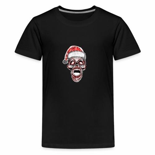 Totenkopf- Weinachtsmütze - Teenager Premium T-Shirt
