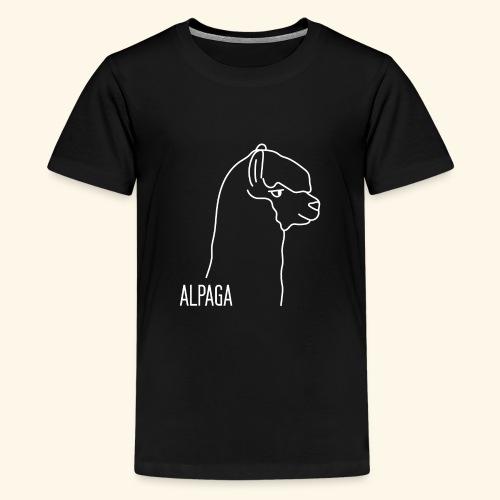 Alpaga blanc - T-shirt Premium Ado
