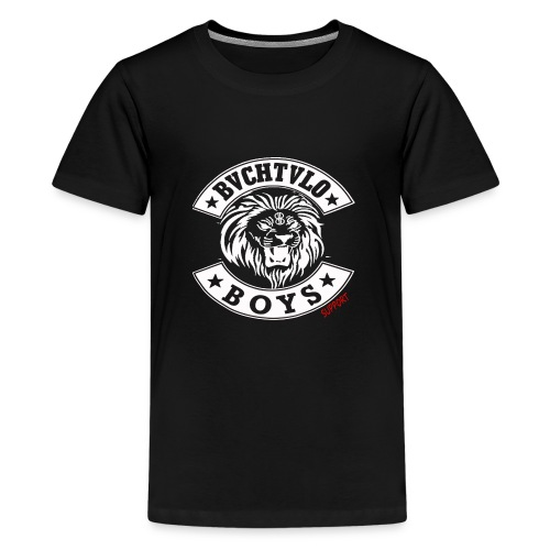 bachtalo boys logo weiss - Teenager Premium T-Shirt