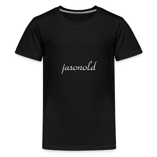 jasonold Schreibschrift Weiß - Teenager Premium T-Shirt