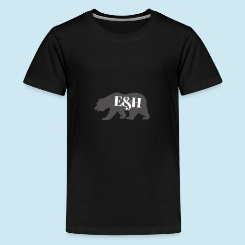 Wild bear design ~ E&H Woodland Collection - Teenage Premium T-Shirt
