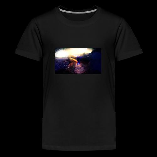 Hoodie Grau   Handyhülle samsung - Teenager Premium T-Shirt